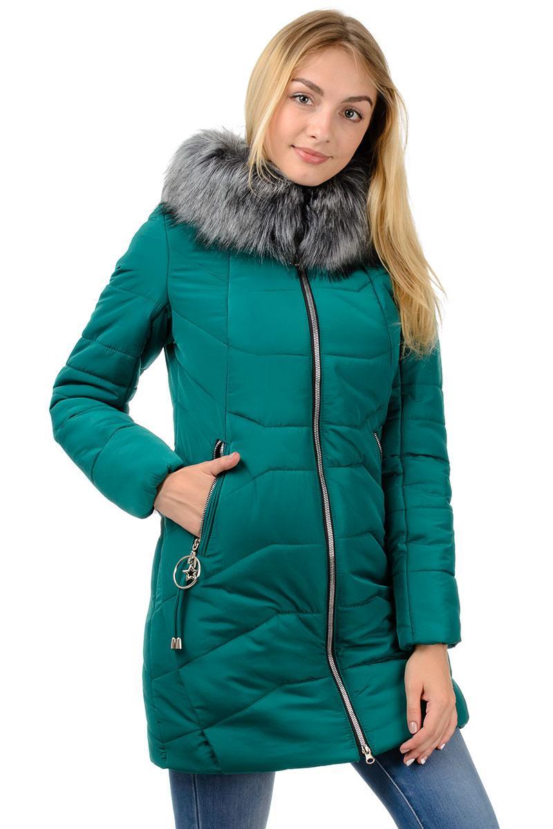 "Зимняя куртка ""Ева"" бутылочный"