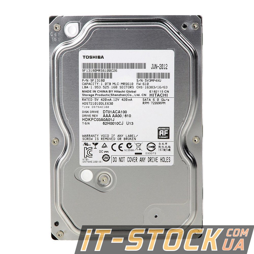 "Жесткий диск 3.5"" 1Tb Toshiba DT01ACA100 (32Mb/7200/SATAIII)"