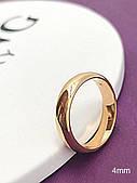 Кольцо обручальное 4 мм . Медицинское золото. 22