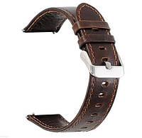 Кожаный ремешок для часов Motorola Moto 360 2nd gen (42mm) - Bark Brown
