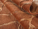 Шикарный современный ручной ковер кирпичного цвета из шерсти и вискозы , фото 3