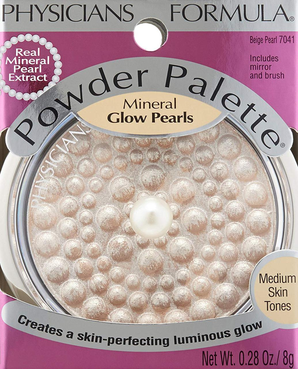 Минеральная пудра-хайлайтер Physicians Formula Powder Mineral Glow Pearls жемчужно-бежевый