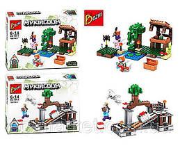 Конструктор 194-1-2 Майнкрафт (аналог Lego Minecraft), 168 елементів, 2 види, в коробці, 31,5-22,5-4,5 см.