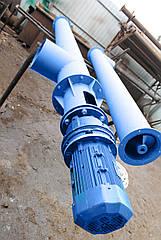 Шнековый транспортёр для цемента 160 мм. длинна 2 м. 10 т/ч двигатель 1.5 кВт. мотор редуктор перо 4 мм.