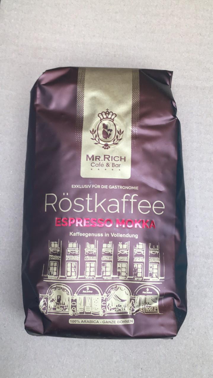Кофе Mr. Rich Rostkaffee Espresso Mokka в зернах 500 гр