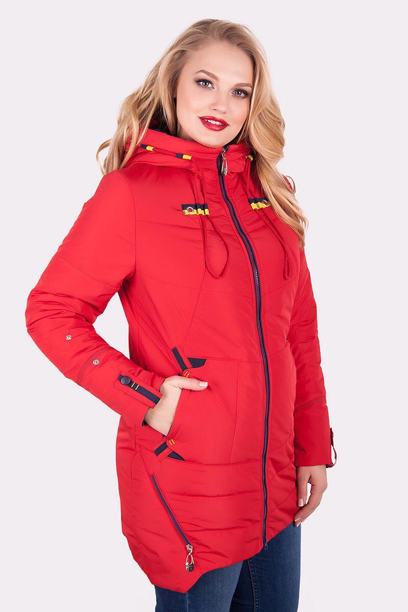 """Осенняя женская куртка """"Модель №71"""" красный"""