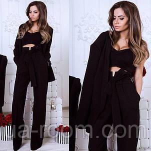 Стильный женский костюм 3 в 1: брюки+топ+пиджак №551, фото 2