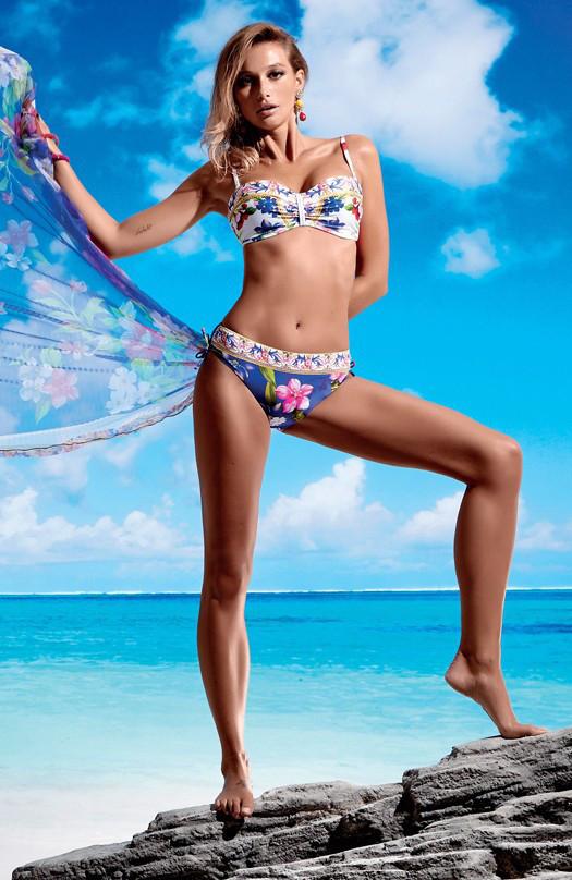 a133cf4af8224 Раздельный купальник для женщин бюстгальтер бандо Miss Marea 18465 50 Синий  MissMarea 18465 - Интернет магазин