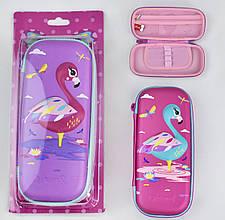 Пенал с 3D изображением фламинго