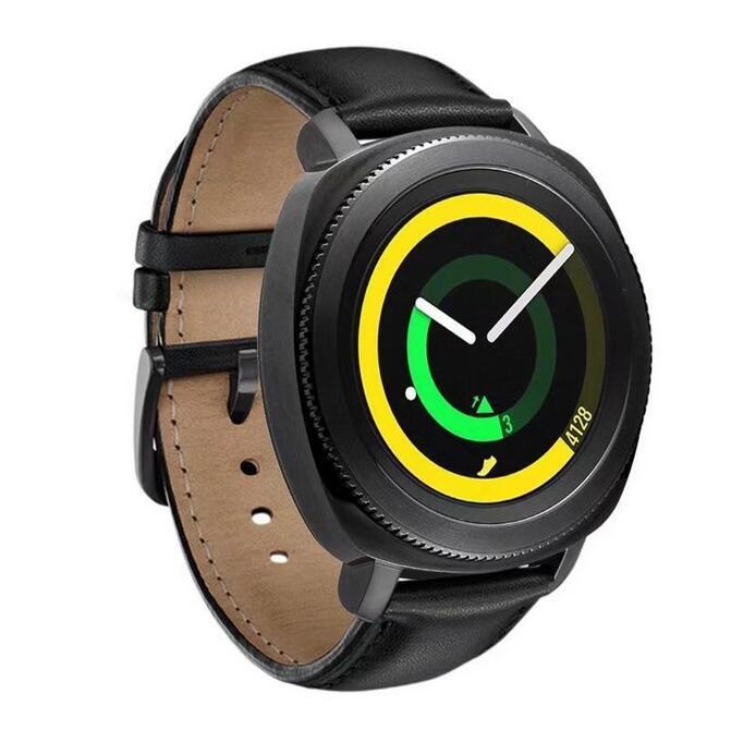 Кожаный ремешок Primo для часов Samsung Gear Sport (SM-R600) - Black