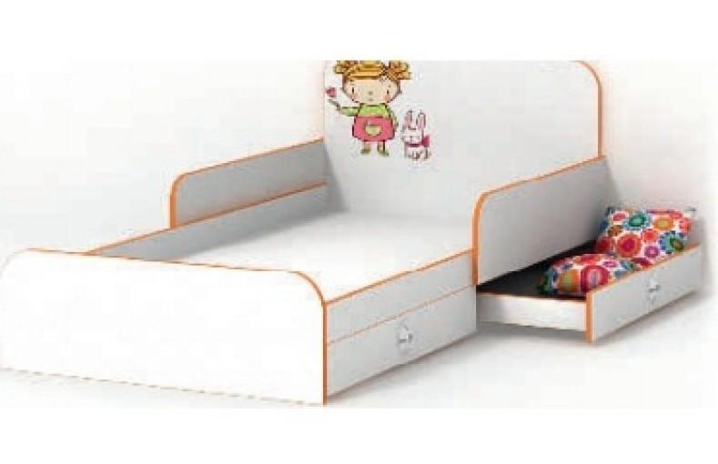 Кровать с бортиком Mandarin/Мандаринка, детская модульная система, LuxeStudio