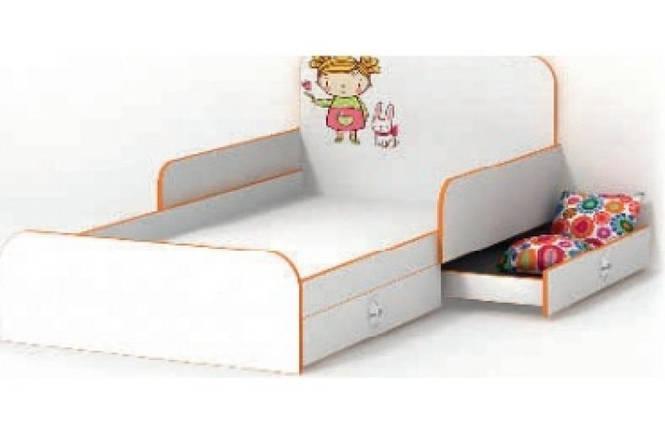 Кровать с бортиком Mandarin/Мандаринка, детская модульная система, LuxeStudio, фото 2