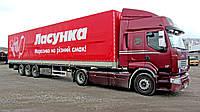Реклама на грузовом, легковом транспорте и спецтехнике Порезка специальных плёнок