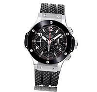 Часы  Big Bang Ceramica Chonograph 44mm SIlver/Black. Реплика класс: VIP