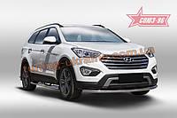 Защита переднего бампера d60 Союз 96 на Hyundai Grand Santa Fe 2014