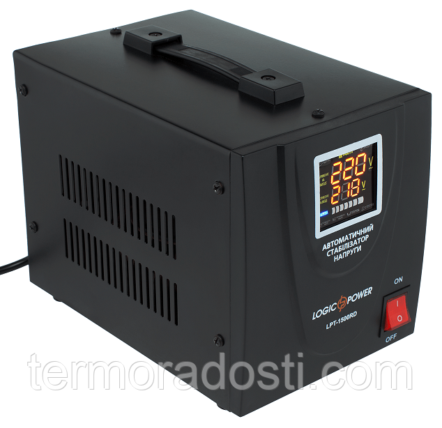 Релейный стабилизатор напряжения Logic Power LPT-1500RD BLACK (1050W)