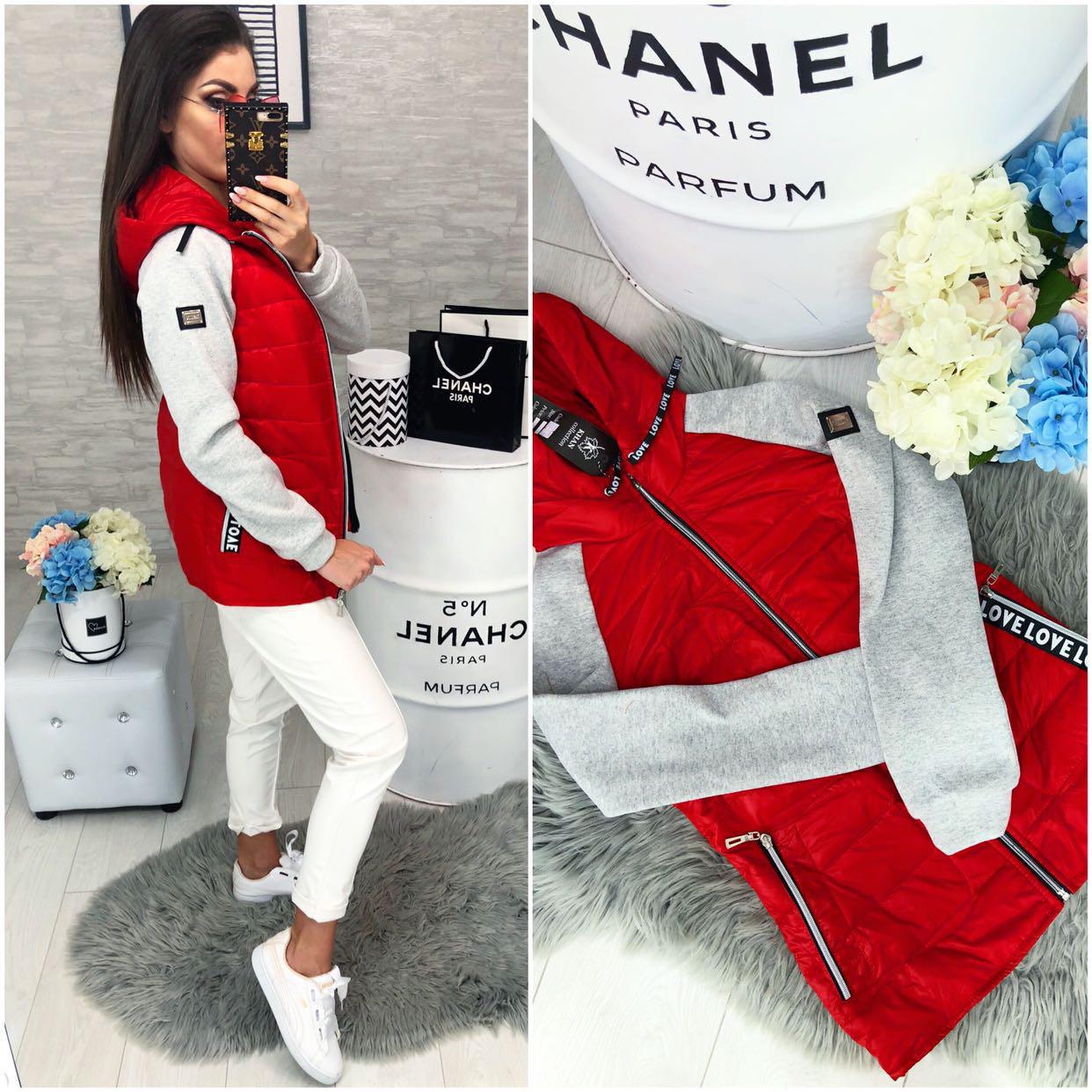 Куртка женская демисезон, модель 768/1, цвет - красный