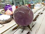 Шар из камня, аметиста, диам. 9 см. , фото 4