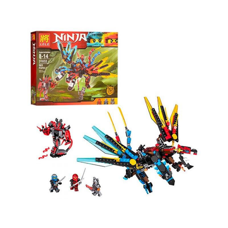 Конструктор Lele Ninja 31032 «Огнедышащий дракон» 503 елементів, в коробці, 47,5-38-7 см.