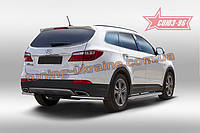 Защита задняя уголки d42 Союз 96 на Hyundai Grand Santa Fe 2014