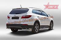 Защита задняя уголки d60/42 двойные Союз 96 на Hyundai Grand Santa Fe 2014