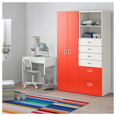 шкаф для детской Stuva Fritids 120x50x192 см белыйкрасный купить