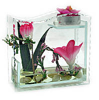 Декоративный цветок в стекле