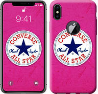 "Чехол на iPhone X Converse. All star. Pink ""3334c-1050-12391"""