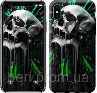 "Чехол на iPhone X Череп-часы ""4100c-1050-12391"""