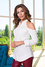 Женская рубашка софт с открытыми плечиками №270
