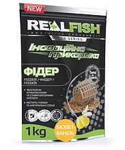 """Прикормка рыболовная Real Fish """"Фидер"""" Бисквит-Ваниль"""
