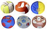Крісло-м'яч пуф з ім'ям безкаркасні меблі для дітей, фото 7