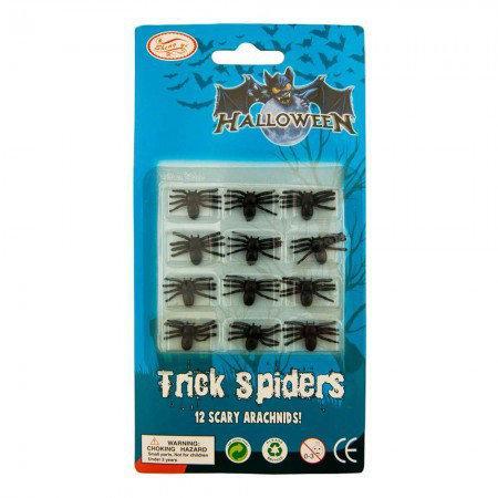 Декоративные пауки (уп. 12 шт)