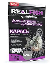 "Прикормка рыболовная Real Fish ""Карась"" Чеснок"