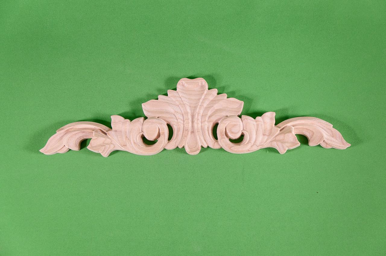 Код ДГ 37.Деревянный резной декор для мебели. Декор горизонтальный
