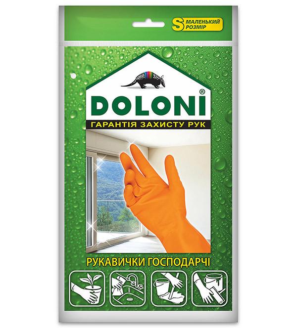 Перчатки хозяйственные латексные Doloni (S)