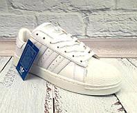 Кроссовки женские Adidas верх комбинированный цвет белый 0062АДМ