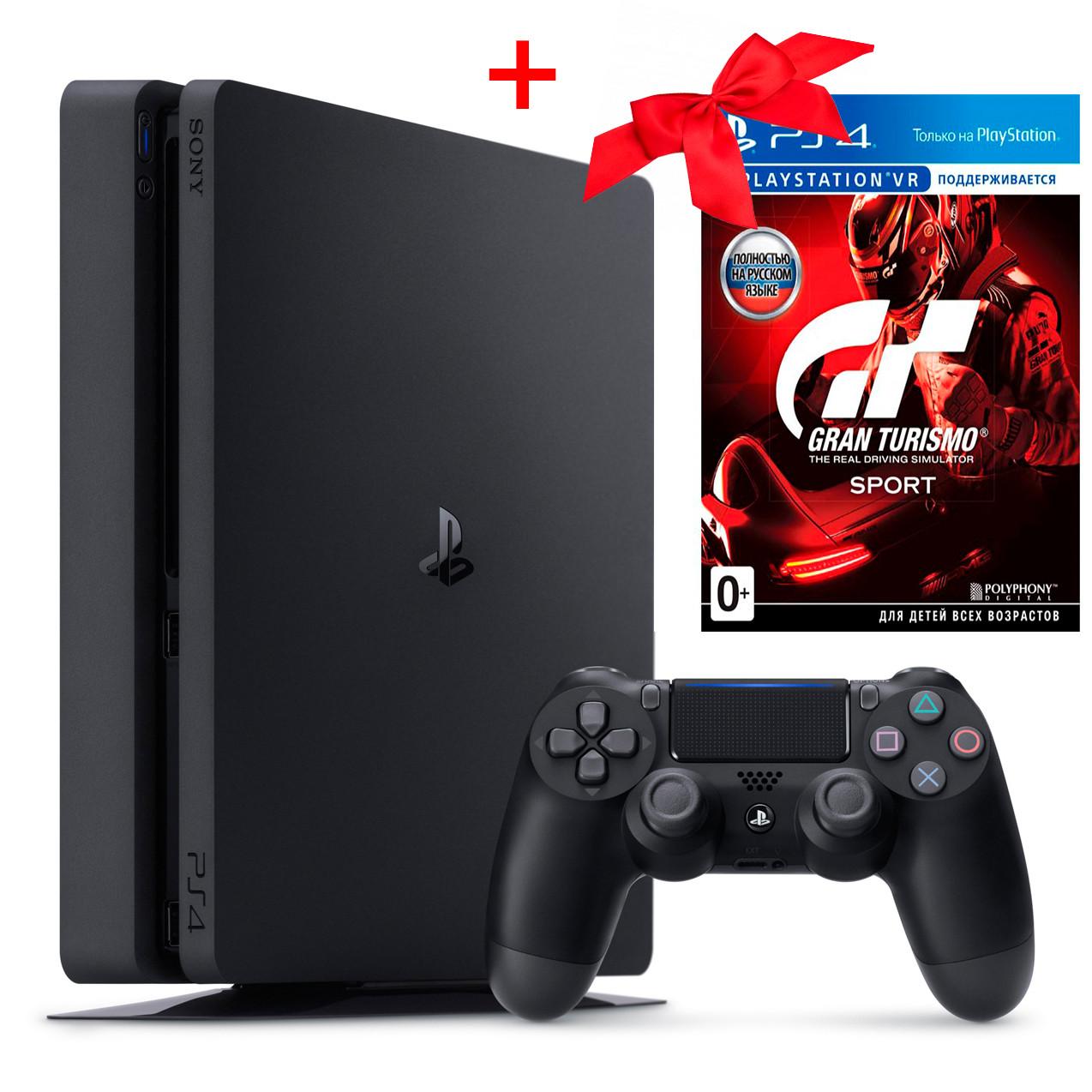 SONY PlayStation 4 Slim 1Tb + диск Gran Turismo