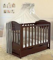 Детская кроватка Angelo Lux-2, темный орех, фото 1
