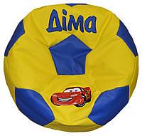Бескаркасное кресло мяч пуф футбол мягкая мебель мешок