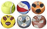 Бескаркасная мебель Кресло мяч баскетбол с вышивкой, фото 10