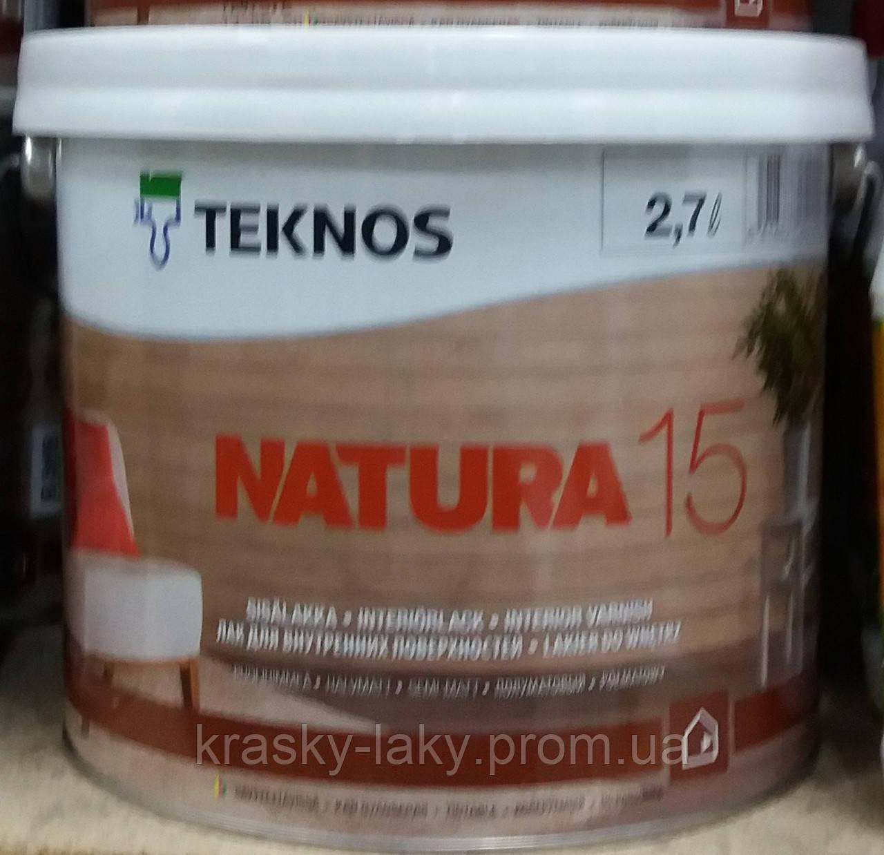 Копия Копия Лак NATURA 15 40 TEKNOS для мебели мат, 0.9л.