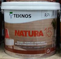Копия Копия Лак NATURA 15 40 TEKNOS для мебели мат, 0.9л., фото 1