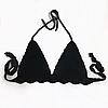 Лиф на завязках  цвет черный размер S