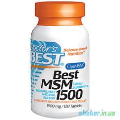 Метилсульфонилметан МСМ Doctor's BEST Best MSM 1500 (120 таб) доктор бест