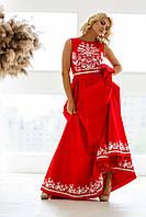 Червона сукня вишита