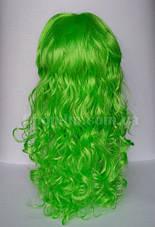 Карнавальный парик салатовый, кудрявый, фото 3