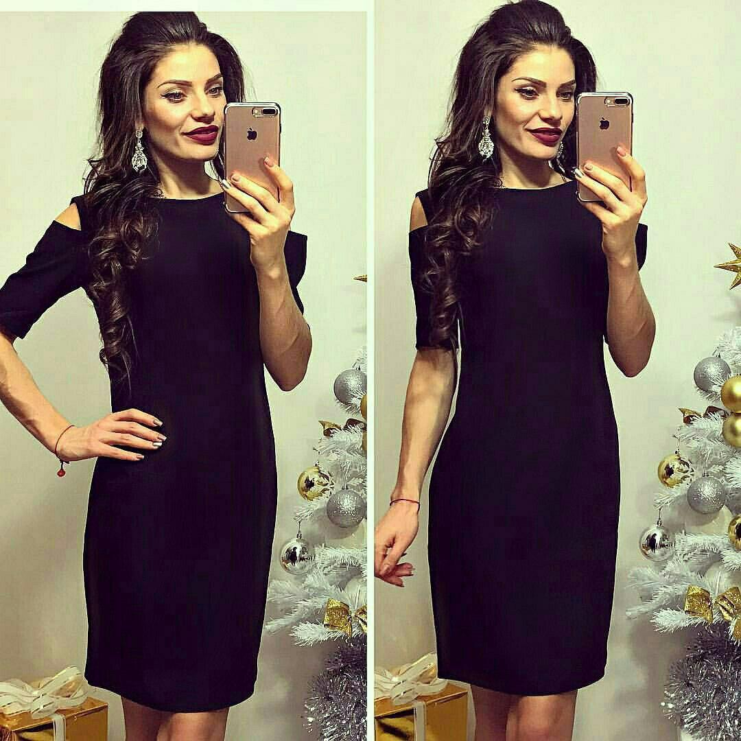 Черное платье «Carmen»