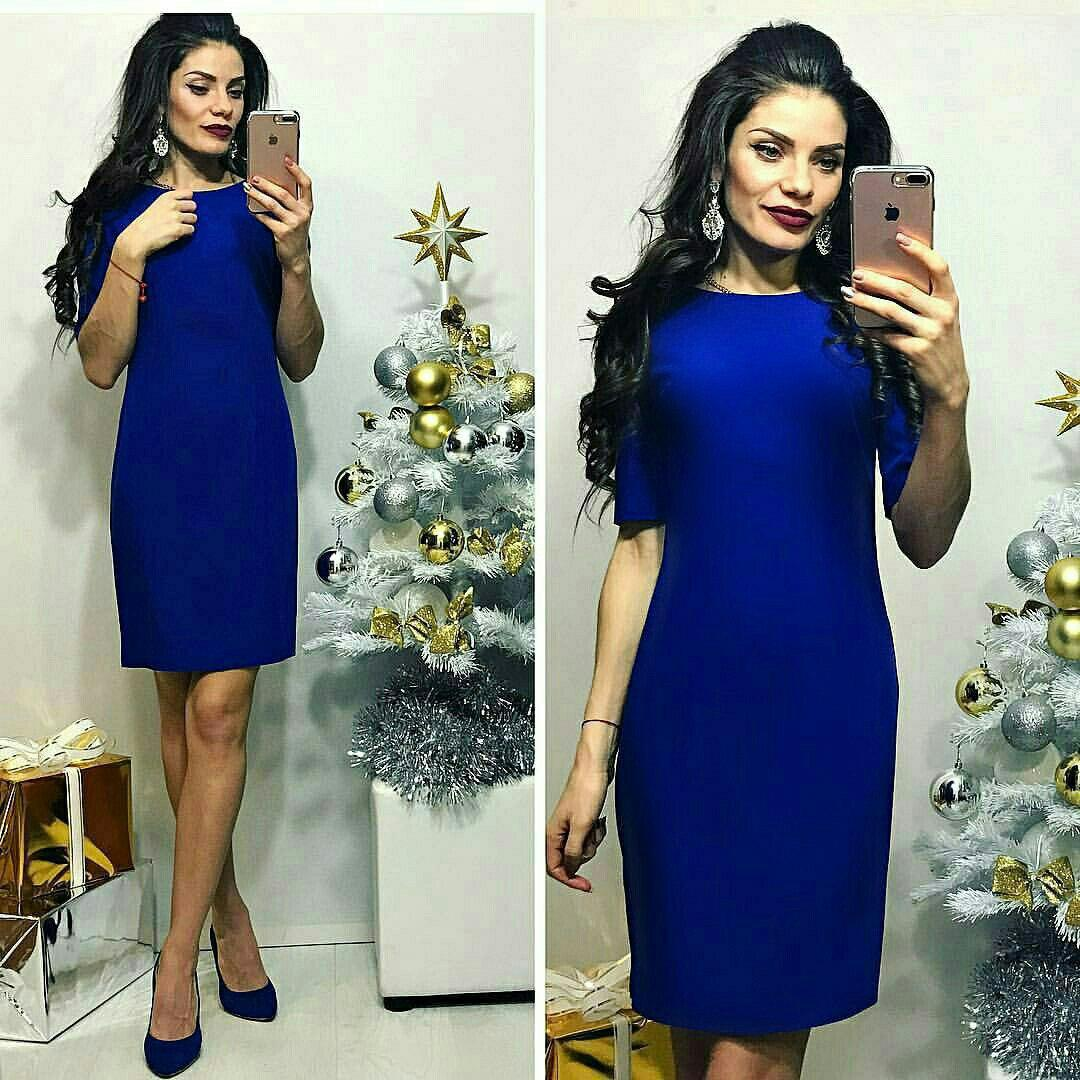 Платье цвета электрик «Carmen»