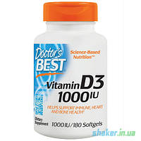 Витамины Doctor's BEST Vitamin D3 1000 IU (180 капс) витамин д доктор бэст